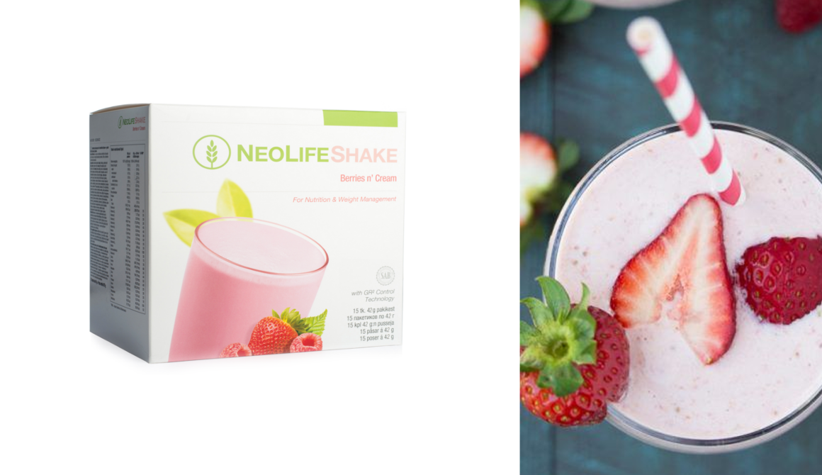 NeoLifeShake Berries 'n Cream for nutrition and weight management